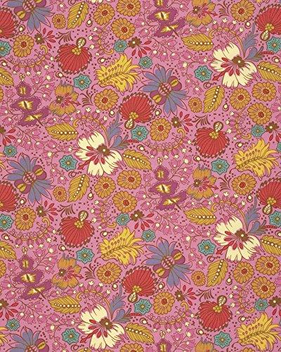anna maria horner stoff folk song coloring garden berry stoff fat quarter - Anna Maria Horner Stoffe